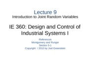 Lecture 9 Ch 3 Intro to Joint RVs