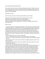 author's Workshop Storytelling Worksheet