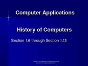 History of Computers 1.6 thru 1.13