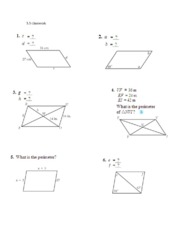5 3 5 4 Homework Lesson 5 3 Kite And Trapezoid Properties 4 5 Km