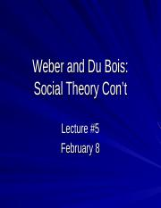 2017 Lecture 5 Weber and Dubois.ppt