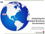Chapter 2 Analyzing the Global Business environment
