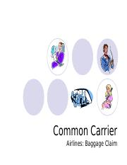 6 Common carrier  (Baggage Claim).ppt