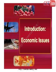 Unit I - Introduction to Economic Issues