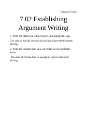 7.02 Establishing Argument Writing.docx