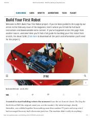 Build Your First Robot - With Plans and Step-by-Step Instructions.pdf