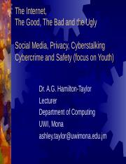 Internet Privacy Cyberstalking Cybercrime v4 - Comp1220 UWI AGHT (1)