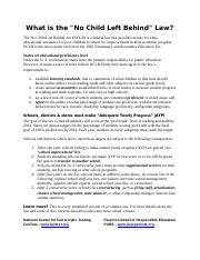 What is the No Child Left Behind Law_0.pdf