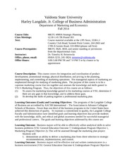 MKTG 4900A Fall 2014 Syllabus