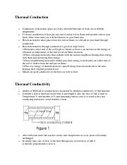 Heat Transer (Thermal Conduction and Conductivity)