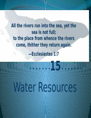 15 Water Resources