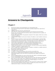 Appendix L - Answers to Checkpoints
