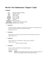 Review Test Submission 5