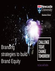 Lecture 11. Branding Strategies to build brand equity.dr.Raffaele Filieri