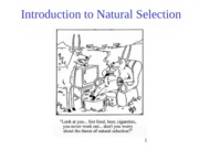 Introduction to Natural Selection-jan16