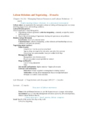 4 Labour Relations and Negotiating