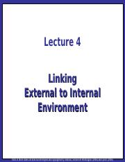 Strategic Management Lecture 04 - Linking External to Internal