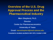 Topic 12 Drug Industry and Drug Approval Process-MShepherd_P