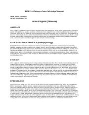 Acne Vulgaris Pathogen Template WORD