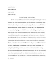 end of semester reflection essay