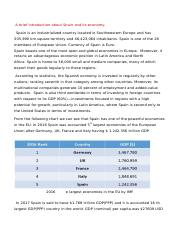A brief introduction about Spain and its economy.docx