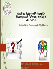 Scientific Research Methods Ch5