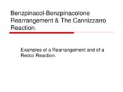 Benzpinacol-Benzpinacolone Rearrangement & The Cannizzarro