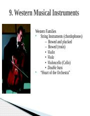 Chapter 9 Western Musical Instruments