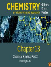 Ch 13 - Chemical Kinetics Spring 2016 Part 2