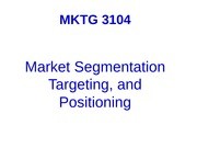 4 -  9. Segmentation and Positioning outline