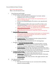 Course Hero Research Methods Exam 3 Outline