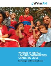 Women in Nepal leading communities changing lives