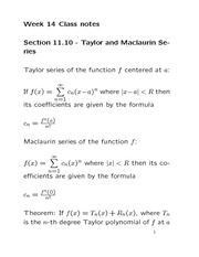 how to find the maclaurin series of a function