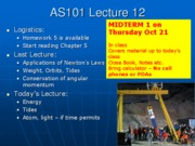 AS101 Lecture 12