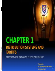 CHAPTER 1 Distribution Systems and Tariffs.pptx