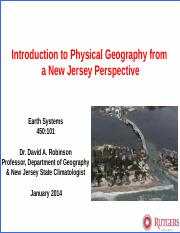 Introduction to Physical Geography of New Jersey Lecture Slides