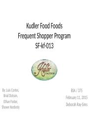 bsa 375 kudler frequent shopper Bsa electricity merit badge - powerpoint ppt presentation  dq 2 bsa 385 week 2 individual assignment frequent shopper program 1 bsa 385 week  bsa 375 academic achievementuophelp powerpoint ppt presentation  week 2 individual assignment marketing issues paper (kudler fine foods) bsa 502 week.