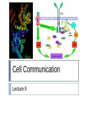 Cell Communication (Lecture 9) TS (student)(1) (2).ppt