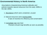 Lecture 4 Environmental History 2 The Aesthetic and Efficiency Movements