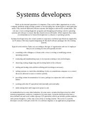 Systems developers.docx