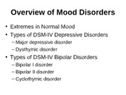 Week 4 - Mood Disorders