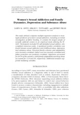 Women's sexual addiction and family dynamics, depression and substance abuse