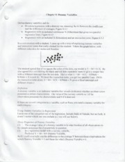 Metrics Chapter 8 notes
