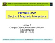 PHY272 lecture3