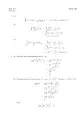 Math 122 Test 1A Solutions