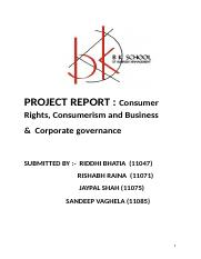 Consumer Rights and Governance.doc