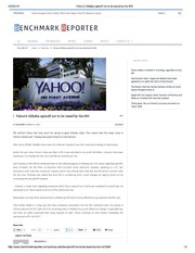 Yahoo's Alibaba spinoff not to be taxed by the IRS