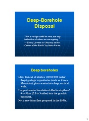 Deep-Borehole Disposal