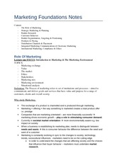 88035364-Marketing-Foundations-Notes