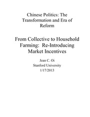 From Collective to Household Farming Lecture